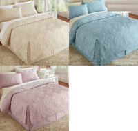 "Fitted Coverlet Ensemble  Elegance of Luxurious Microfiber 16""  Drop SET & Shams"