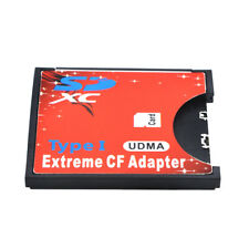 Extreme SDXC SDHC SD to CF Compact Flash Memory Card Type I UDMA Reader Adapter
