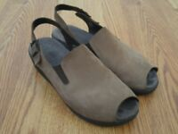 Mephisto Air Relax Brown Nubuck Sandals Ankle Strap Open Toe Size 39 US 9