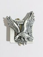 """insigne en métal des FUSILIERS COMMANDO DE L'AIR """" Sicut Aquila """"  A690"""