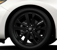 6x Alloy Wheels Stickers Fits Lexus IS RX Graphics Vinyl Decals RD39