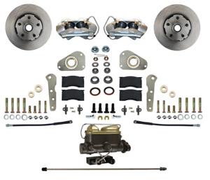 57-68 Ford, 61-68 Merc Leed Brakes Front Disc Brake Kit (w/factory power; plain)
