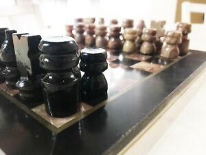 Échiquier marbre Noir/Rose