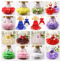 Small Dog Tutu Dress Pet Puppy Lace Skirt Cat Princess Dress Clothes Apparel