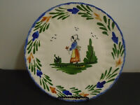 VINTAGE BLUE RIDGE SOUTHERN POTTERIES HAND PAINTED PLATE 10 3/8""