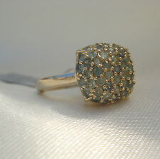 1.50ct Natural Alexandrite Gold Cluster Ring