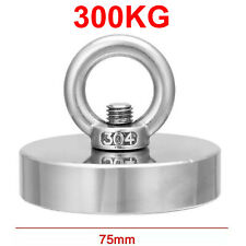 300kg D75mm Fishing Salvage Recovery Metal Treasure Hunting Neodymium Magnet