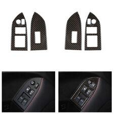 L/RHD Real Carbon Fiber Window Lift Switch Cover For Toyota 86 Subaru BRZ 13-17