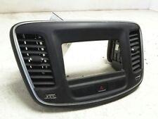 15 16 CHRYSLER 200 2.4L AT CENTER DASH AUDIO RADIO BEZEL BLACK A5X9 68160143AA