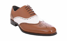 Stacy Adams Stockwell Brown & White Contrast Wingtip Oxford Leather Dress Shoes
