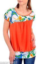 NEW SEXY Women TOP Orange Green Multicolor Blouse Shirt PLUS SIZE 1 XL 2XL XXL