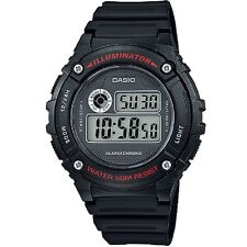 Casio W-216H-1AV Black Digital Sports Watch w Box W216H-1AV with Casio Box