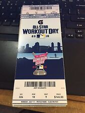 2016 MLB ALL STAR GAME TICKET STUB 7/11 WORKOUT DAY HOME RUN DERBY STANTON