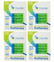16 x Starmo AAA MN2400 900mAh HR03/1.2V Rechargeable Batteries NiMH Ready To Use
