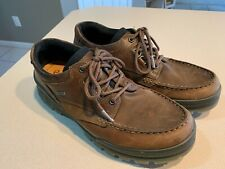"ECCO Men's ""Track"" Brown Leather Goretex Hiking Shoes Size 43"