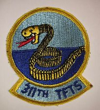 Post Vietnam War USAF US Air Force 311th Tactical Fighter Squadron Patch