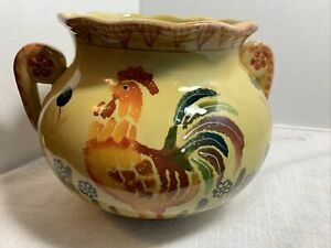 Ceramic Large Chanticleer Rooster Soup Tureen/bowl Rare.