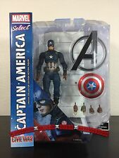 "Marvel Select Captain America NEW Civil War 7"" Action Figure Diamond Toys"