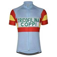 Cycling Short Sleeve Jersey Retro 1959 Tricofilina Coppi Cycling Jersey