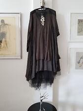 Rundholz graues Strickkleid Kleid 100 % Merinowolle mit 100 Details! Gr. M/ XXL