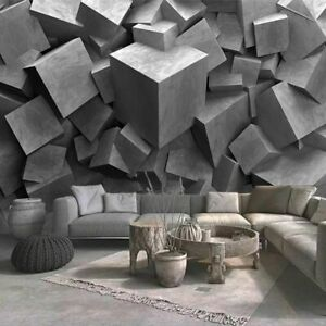 3D Relief Cement Slab Carving Murals Wallpaper Creative Art Wall Cloth Designed