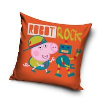 NEW LICENSED GEORGE Robot Rock PIG Peppa Pig cushion cover 40x40cm 100% COTTON