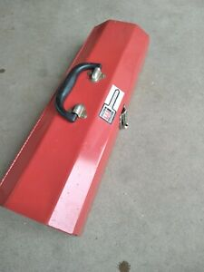 """Tool Box 19.75"""" x 6.75"""" x 3.75"""" Waterloo Industries Metal Red Excellent Conditio"""