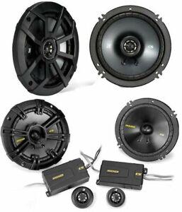 "2) KICKER 43CSS654 6.5"" Component Speakers + 2) 43CSC654 6.5"" 2-Way Speakers"