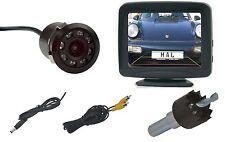 "Universelle Mini Rückfahrkamera IR LED´s,  mit Distanzlinien & Monitor 3,5"""