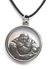 Laughing Happy Buddha Hotai Unisex Pewter Pendant Charm Necklace SID-514