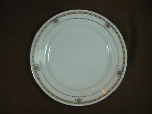 Noritake Morimura Nippon Lunch Plate Oriental Design on Rim Gold Ring and Trim