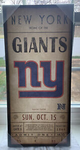 New York Giants Officially NFL Licensed Wall Art