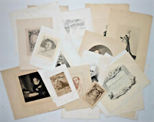 Lot 40 Gravures ECOLE ESTIENNE Rembrandt Mucha Cannes Alphonse Edouard Binet