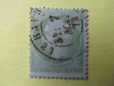 Timbre Napoleon dentelé non lauré, oblitéré mai 72, 5c vert pâle sur bleu,YT 35