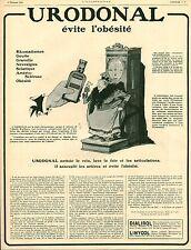 Publicité ancienne pharmaceutique Urodonal évite l'obésité 1921