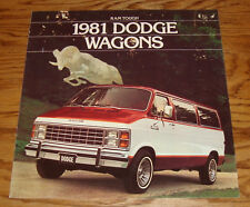 Original 1981 Dodge Ram Wagon Deluxe Sales Brochure 81