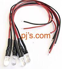 White LED Light 20cm Pre Wired 5mm 12V DC x 4pcs