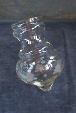 Ancien GLOBE Bobèche Abat-jour en verre gravé pour lustre suspension