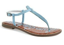 NEW SAM EDELMAN 'Gigi' Calf Hair Sandal, Blue, Women Size 6 $129