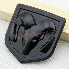 Matte Dark Black ABS Hood Head Rear Trunk Emblem Badge For Dodge Ram Accessories