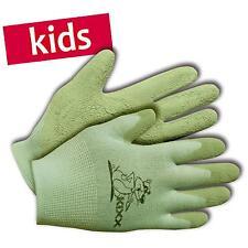 KIXX Kinder-Handschuhe Garten Arbeitshandschuhe Nylon/Latex Gr. 5 grün