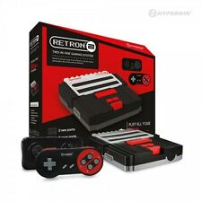RetroN 2 2in1 Super Nintendo SNES & NES Retro Video Game Twin Console - Black
