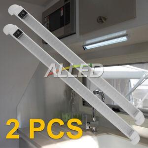 2X 12V 460mm Aluminum LED Swivel Lamp Boat/Car/RV/Marine Cool White With Switch