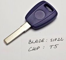 FIAT PUNTO BRAVO Uno PANDA MULTIPLA KEY FOB CASE BLADE SIP22  WITH CHIP T5 #31