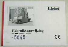 Irion DFQ30 voor zijladers Gebruiksaanwijzing User's Manual 12/1999
