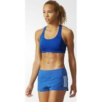 adidas Performance Racer Back Bra 3-Stripes Sizes 2XS, XS Blue RRP £35 BNWT