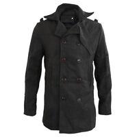 Maenner Trenchcoat Winter lange Jacke Mantel Dunkelgrau Groesse CN XXL (US L) M9