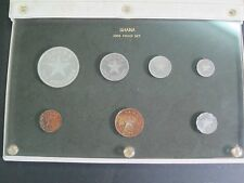 1958 Ghana 7 Coin Proof Set w/ Silver 10 Shilling Coin Special Packaging Rainbow