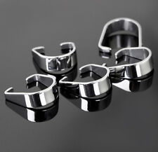 500pcs Silver Stainless Steel Pendant Pinch Clip Clasp Bail Connector finding