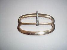 "18th century belt buckle CD brass repro 3"""